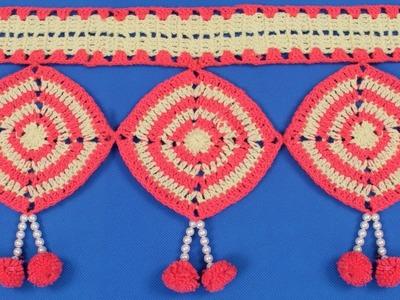 WOW !!! DIY - How to make Door Hanging Toran from Woolen | Handmade Toran | DIY Door Hanging Toran