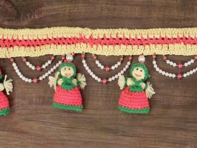 WOW ! Easy Crochet Pattern | How to make Door Hanging Toran from Woolen  Handmade Door Hanging Toran