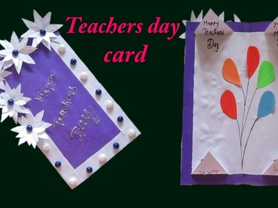 Ba2 DIY How to make teacher day card with paper * school project * Teacher day present