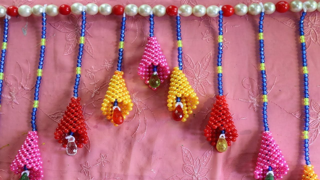 DIY arts and crafts    How To Make Beautiful Beaded Wall Hanging For Home Decor - DIY Home Projects