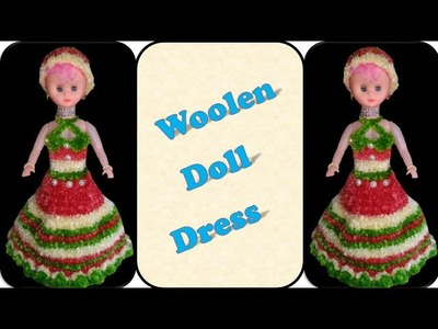 DIY CROCHET How to make Dolls Woolen Dress. बाहुली ला वुलन ड्रेस कसा बनवायचा ?