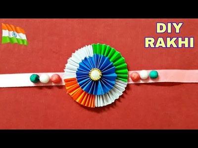 DIY: how to make Indian Tricolour Rakhi with Paper | #Rakhi for kids| #Rakshabandhan| Rakhi Design