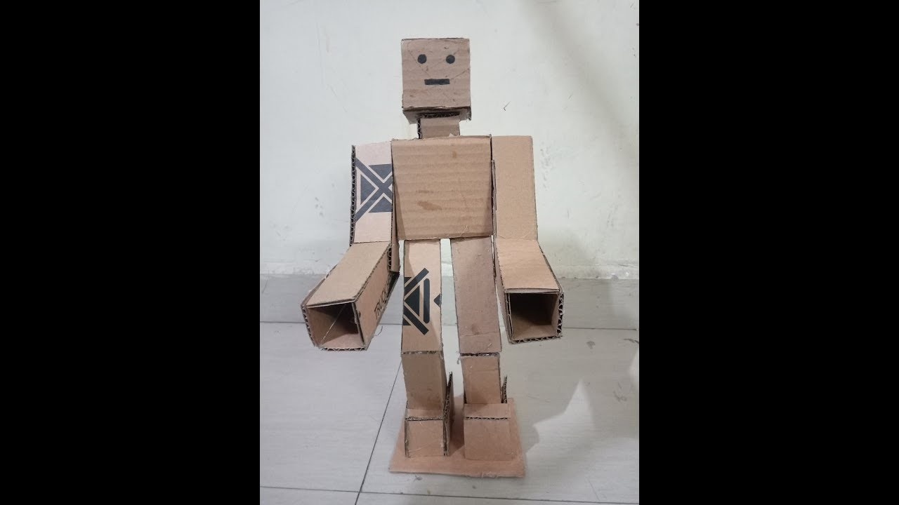 Craft For Kids Diy How To Make Robot Model With Cardboard Best Out Of Waste Craft Diy How To