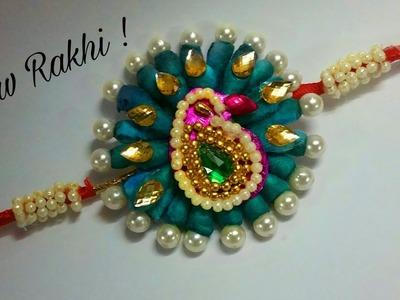 DIY Peacock Rakhi making ideas || How to make beautiful Rakhi at home, diy rakhi ideas