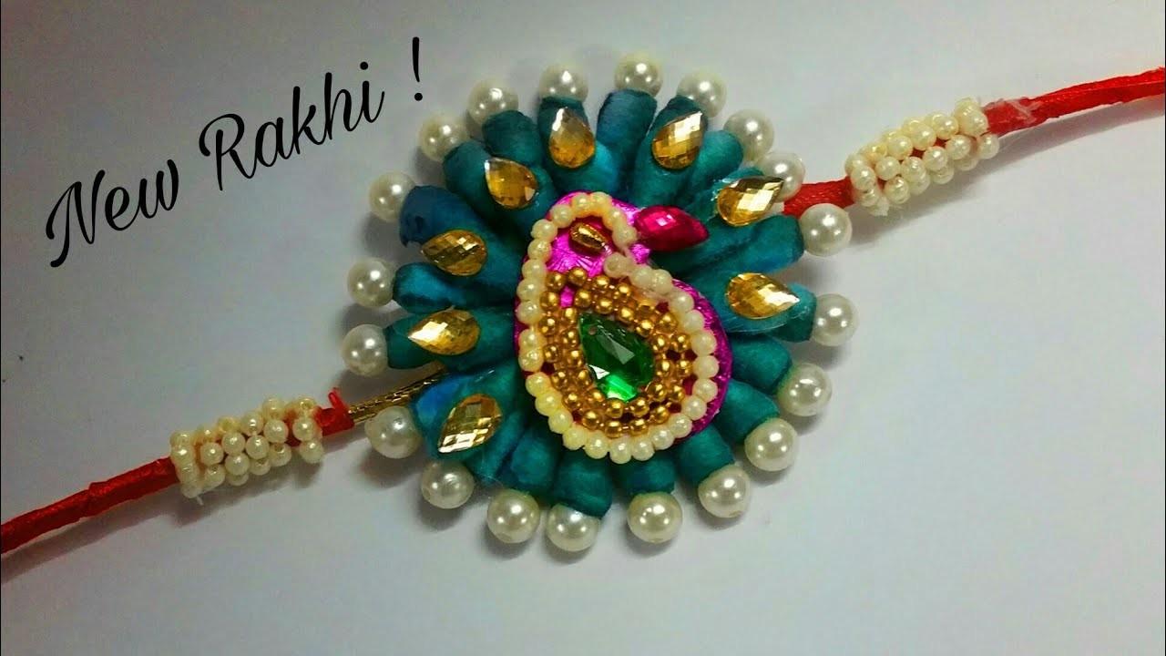 DIY Peacock Rakhi making ideas    How to make beautiful Rakhi at home, diy rakhi ideas