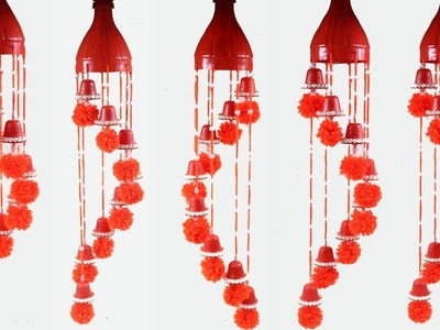 DIY: Plastic Bottle Wind chimes!!! How to Make Beautiful Wall Hanging With Plastic Bottle & Woolen
