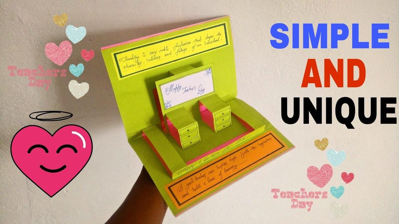 diy teachers day card  how to make card for teachers