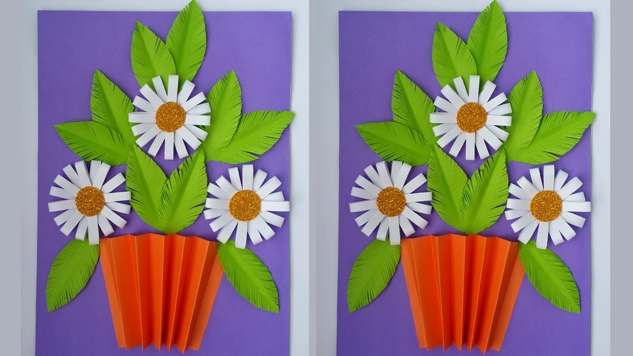 DIY: Wall Decoration Idea!!! How to Make Paper wall Hanging for Room Decoration!!!