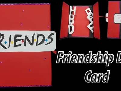 F.R.I.E.N.D.S card | DIY  how to make cards for friends | cards for friendship day | JK Arts 1438