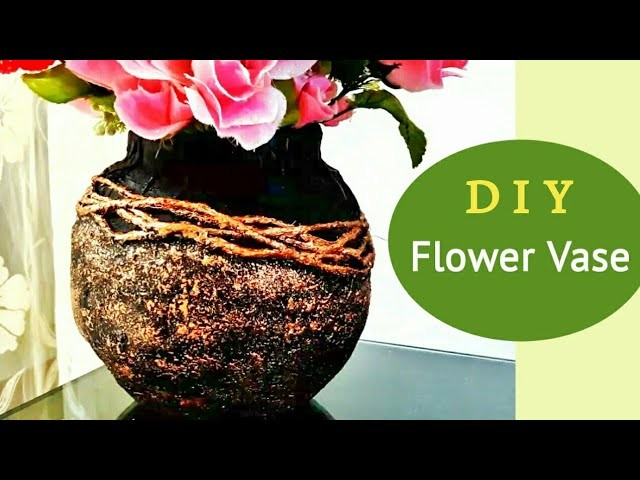 Flower Vase out of waste material | How to make flower vase at home | Plaster of paris craft | DIY