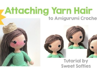 How to add Hair, Part 2 of 3: Sewing the Hair Cap On the Doll || DIY Tutorial