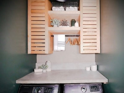 How to Build Cabinets for Laundry Room