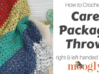 How to Crochet: the Care Package Throw (Left Handed)