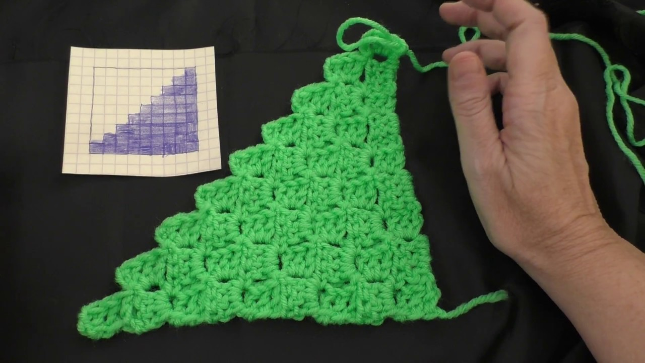 How to Crochet the Corner-to-corner Stitch (Left Handed)