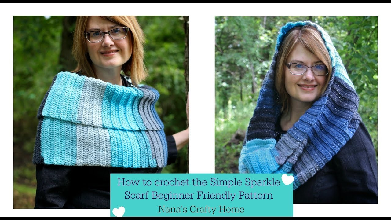 Crochet How To Crochet The Simple Sparkle Scarf A Beginner Friendly