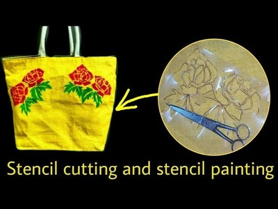 How to Cut Stencil for Easy and Fast fabric painting