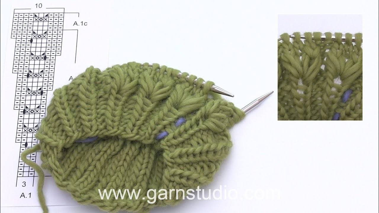 How to knit a textured border