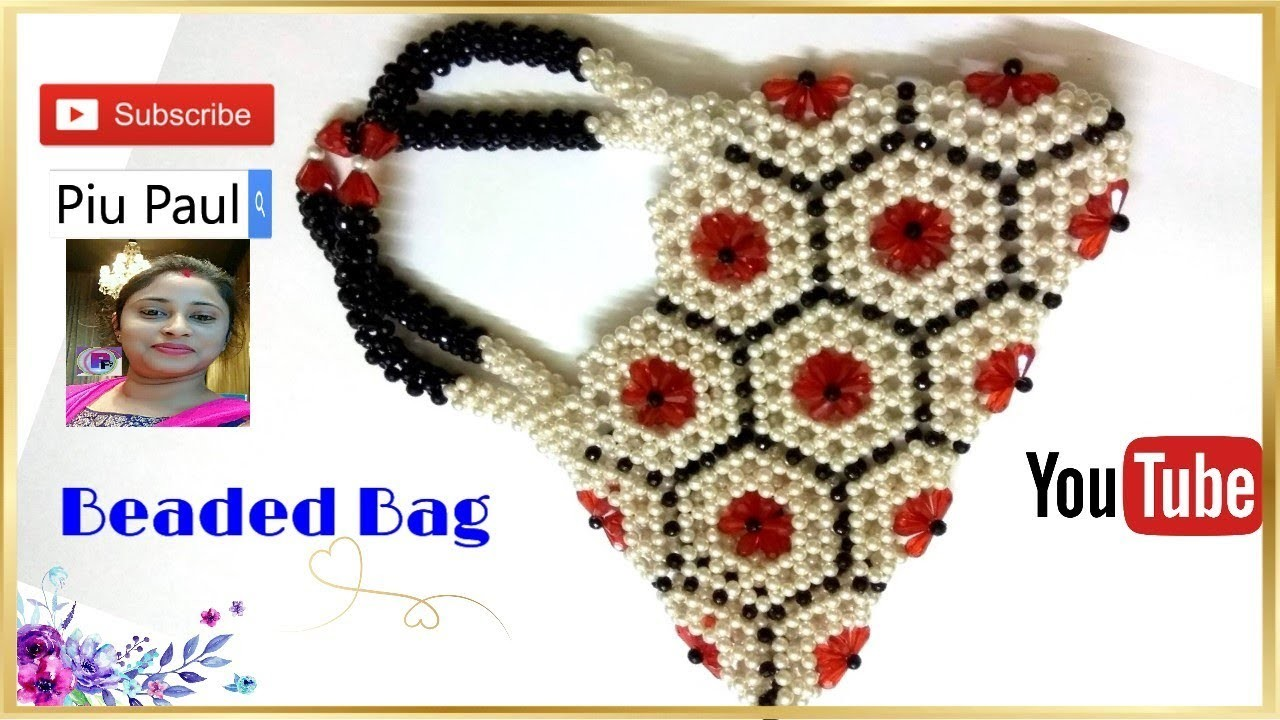 How to make a beaded 18 flower Hand Bag-Part 1