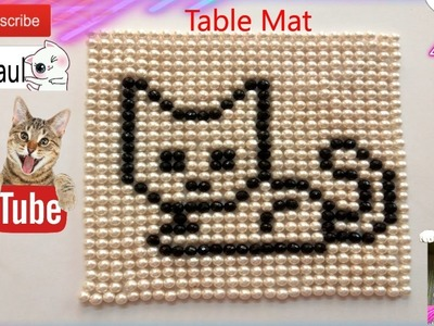 How to make a beaded table mat |Animal design