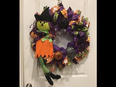How to make a Cruffle witch  wreath from Trendy Tree Kit