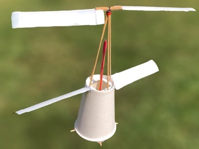 How to Make a Helicopter at Home - DIY Flying Cup
