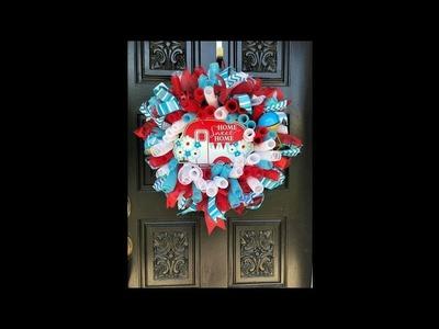 How to make a Home sweet home wreath