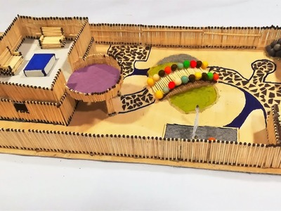 How to Make a House with a Japanese Style Garden Using Matchsticks