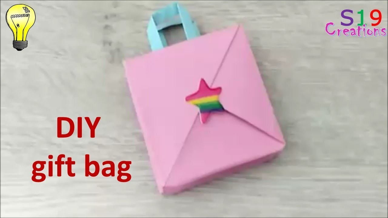 How To Make A Mini Gift Bag Paper Crafts Origami Kids Paper Craft