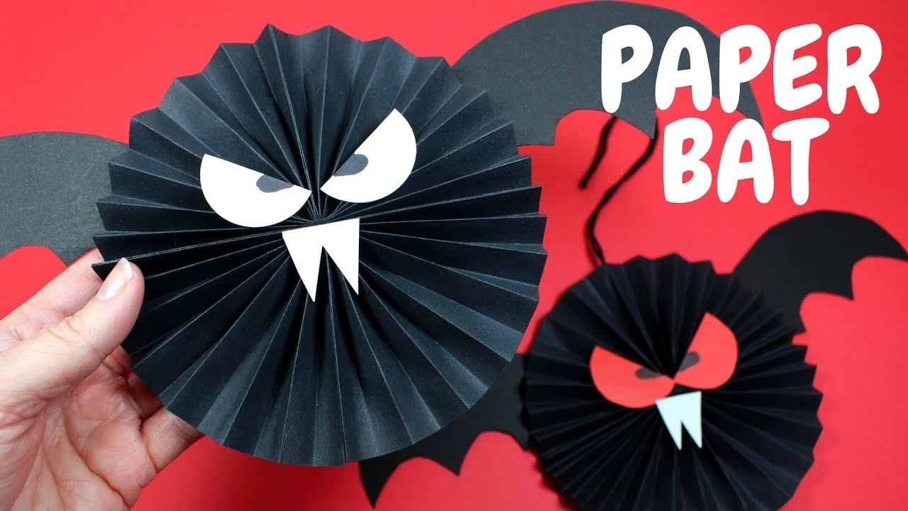 How to Make a Paper Bat | Halloween Crafts