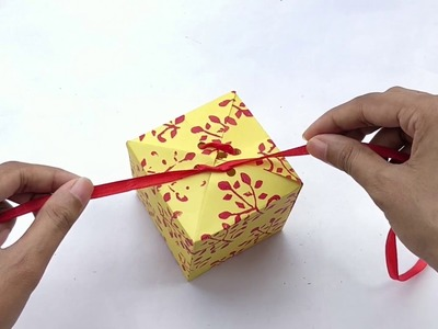 How To Make A Paper Gift Box That Opens And Closes