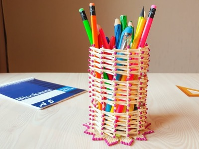 How To Make a PENCIL HOLDER with Matchsticks | Match Pencil Holder