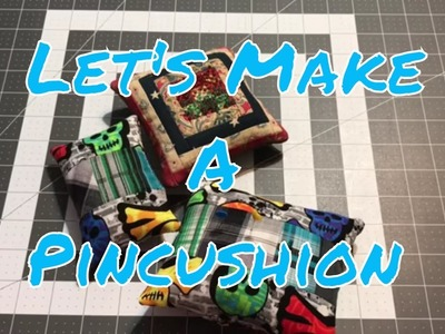 How to make a pincushion using the scrappy calculator strips - A sew with me video