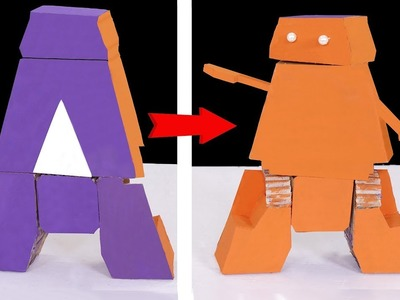 How to make a robot out of cardboard | diy robot