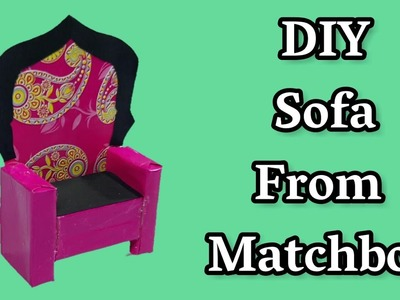 How To Make A Sofa From Matchbox | Best Out Of Waste Matchbox Craft Idea | Best Reuse Idea