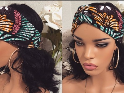 HOW TO MAKE A TURBAN HEADBAND WITH ELASTIC BACK