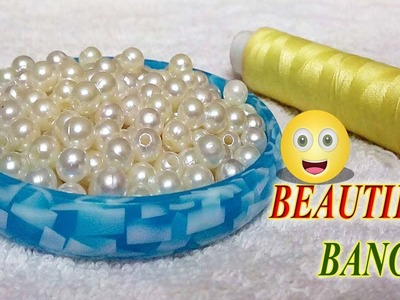 How to make beaded silk thread Bangles. designer fancy side bangles