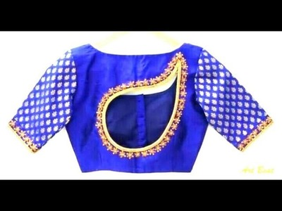 How to make . beautiful back front neck blouse new design