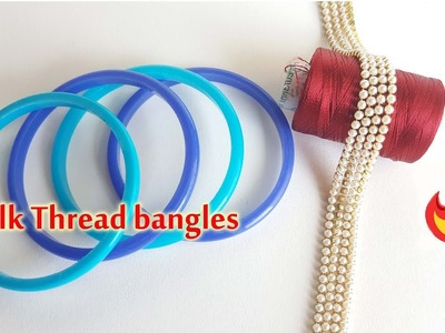 How to make Beautiful silk thread Bangles at home. simple and easy bangles making video