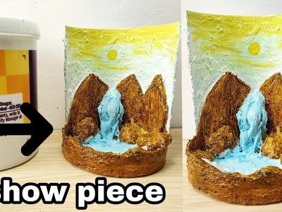 How to make beautiful waterfall fountain show piece