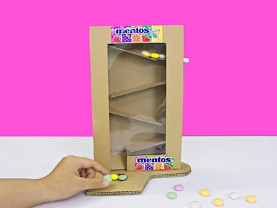 How to Make Candy Dispenser from Cardboard