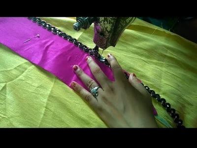 How to make Chote Chote kapde Ke Tukde Se Bana designer Gala.at home