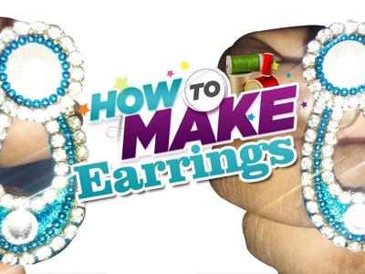 How To Make DIY Silk Thread Stud Earrings in English | Threader Earrings Designs