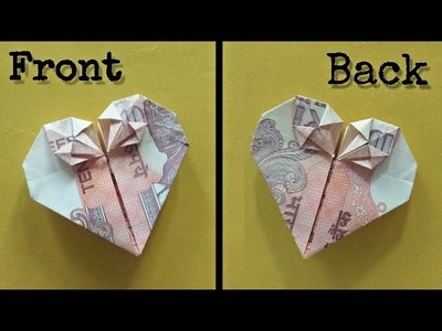How to make DOUBLE HEART with MONEY ll Front-Back Same ll tutorial
