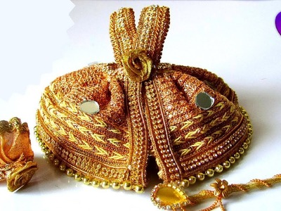 How to make Dress, Mukut, Bansuri for Laddu Gopal   Bal Gopal Dress making   Janmashtami Decoration