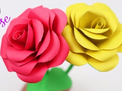 How To Make Easy And Simple Paper Rose | DIY Paper Rose | Paper Girl