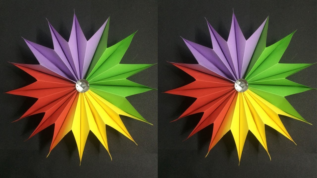 How to Make Easy Flower with Colored Paper | Making Paper Flowers Step by Step | DIY-Paper Crafts