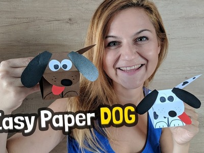 How to make easy paper doggie with kids