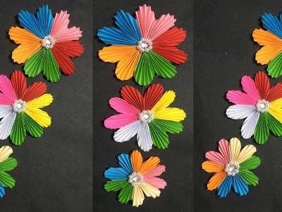 How to Make Easy Paper Flower | Making Paper Flowers Step by Step | DIY-Paper Crafts