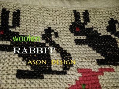 How to make Easy Woolen Rabbit step by step Ason Design | Handmade woolen Ason Design idea . .
