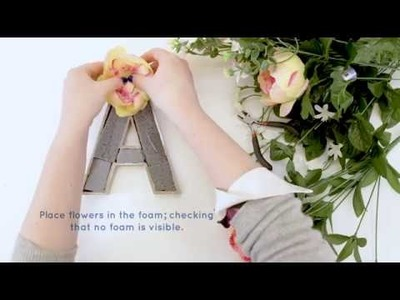 'How To Make'  Flower Letters